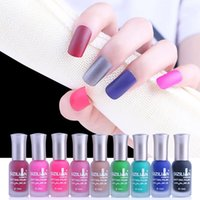 Matt Nail Gel Polish 12ML 40 Colors Nail Art Finger Holder U...