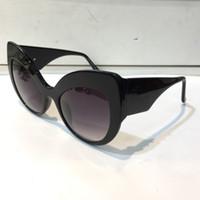 80123 نظارة شمسية جديدة للنساء النظارات الباروكية القط العين النظارات الشمسية الإيطالية مطلية بالذهب فراشة الإطار مع النظارات الشمسية الكلاسيكية