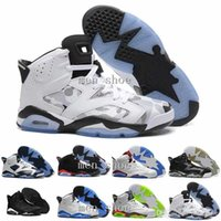 [With Box] Wholesale Air 6 black cat Mens Basketball Shoes 6...
