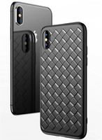 Luxury Grid Silicone Case For iPhone 8 8Plus 7 7Plus X Cases...