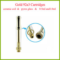 high quality gold 92a3 ceramic coil vape cartridges 510 thre...