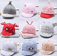 2018 Cappelli per bambini primavera e autunno ragazzi berretto da baseball per bambini berretto da donna bambino carino cappello a teschio morbido fumetto MZ001
