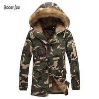 Giacca invernale moda uomo camouflage parka uomo cappotti maschio addensare cotone imbottito cappotti con cappuccio di pelliccia plus size 5xl 2018