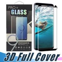 Displayschutz Ausgeglichenes Glas 3D-Curved-Kasten Freundliche Abdeckung für Samsung-S9 S8 S10e S10 Plus-Hinweis 10 9 8 S7 mit Kleinpaket