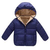 طفل بنين معاطف الشتاء قميص أزياء مقنع ستر الطفل جاكيتات رشاقته دافئ الخارجي الملابس عالية الجودة
