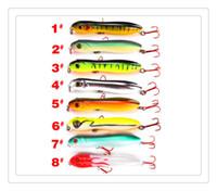 Pisfun 8pcs / lot 낚시 유혹 세트 Wobbler 크랭크 베이트 세트 혼합 된 색상 Minnow 물고기 공급 잉어베이스 잉어베이스 / 16g
