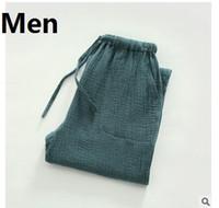 Livraison Gratuite, Marque Sommeil Bas Doux Eur Plus La Taille Hommes D'été Coton Mince Pajama Pantalon Pantalon, homme Des Ventes De Qualité Pour Homme