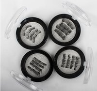 Ojo magnético triple pestañas visón 3D Reutilizable Falso imán Extensión de pestañas extensiones de pestañas 3d maquillaje de pestañas magnéticas KKA3245