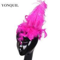 Lady Mini Feather decorazione Top cappelli più colori Cap crinolina Fascinator Hair Clip Costume Hair Band Accessori festa da sposa copricapo