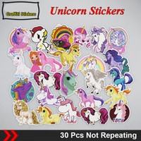 30Pcs Unicorn No Reapting Waterproof Cute Custom Stickers Wa...