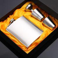 Exquisite inoxidável panela de vinho Aço Set resistente resistente à corrosão Stoup Kit 7 onças Metal Hip Frascos Suit Durable 25 gl BB