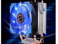 Desktop Multi Plataforma CPU CPU Dupla Tubulação De Calor De Desktop Computador Silencioso Ventilador de Radiador Tipo Dissipador De Calor Material De Alumínio Cobre