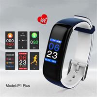 P1 زائد الذكية معصمه لون عرض معدل ضربات القلب مراقبة ضغط الدم IP67 للماء H1 اللياقة البدنية سوار الرياضة نشاط المقتفي الفرقة