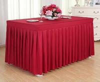 Polyester Tablecover Masa Örtüsü Kapak Parti Düğün Polyester Dikdörtgen Masa Örtüsü Düğün Masa Örtüsü Ücretsiz Kargo