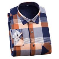 FFXZSJ Brand2018 мужчины плюс размер 4XL зима супер теплый мужчины клетчатые рубашки Оптовая dress рубашки с длинным рукавом повседневная рубашка camisa