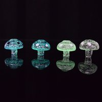 Glow in Dark Glass Carb Cap Mushroom Shape Multi- colors Dome...