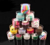 Bolo de papel Cup Cupcake Liners Baking Muffin Caso Dos Desenhos Animados Rainbow Wrapper Wraps Birthday Party Decoração ferramenta Bakeware 100 Pçs / set