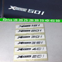 3D ABS Xdrive 18i 20i 28i 30i 35i 40i 45i 48i 50i Amblem Rozet Araba Çamurluk Sticker BMW X1 E84 Için F48 X3 E83 F25 X5 E53 E70 F15 X6 E71 F16