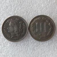 US 1880 THREE CENT NICKEL 코인 복사 동전 가정 장식 액세서리