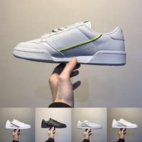 Gri OG Beyaz Continental 80 Koşu Ayakkabıları Çekirdek Siyah Aero Mavi Rahat Sneakers Kaykay Klasik Ayakkabı Boyutu 40-45