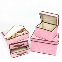 Caixas De Armazenamento Caixas Lindas Vendas Quentes 4 Pcs Pequeno Médio Dois Camiseta Oito Slots Rosa / Cinza / Khaki Organização Início