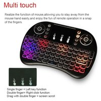 Colorful backlight air mouse keyboard 2. 4G wireless air mous...