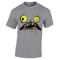 Scary Halloween Funny Face Bloody Fanged Ghoul Monster Haunt...