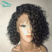 Bythair Human Hair Deep Curl Full Lace Wig Short Curly Lace ...