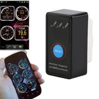 Fcarobd Mini ELM327 Interrupteur d'alimentation Bluetooth V1.5 ELM327 OBDII Scanner automatique OBD2 OBD-II Adaptateur pour téléphone Couple ELM 327 Outil de Diagnostic