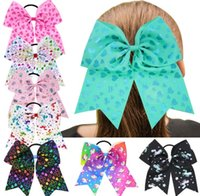 Baby Unicorn Heart Print Hairbands girls Bow hair accessorie...