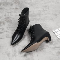 Fashion women' s booties autumn and winter Europe new po...