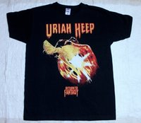 Uriah Heep Regresar a Fantasy'75 Hard Rock Deep Purple Nazareth New Black Camiseta para hombre Tops Cool O Camiseta para hombre