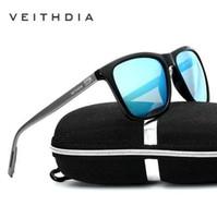 Veithdia ماركة للجنسين ريترو الألومنيوم + tr90 النظارات المستقطبة عدسة خمر النظارات الملحقات نظارات الشمس للرجال / نساء 6108
