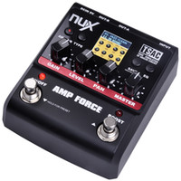 NUX AMP Kuvvet Amplifikatör Simülatörü Gitar Efektleri Pedal 12 Gitar Pre-amper Bozulma ile 3-band EQ Gerçek Bypass Ücretsiz Kargo