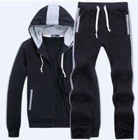 NEW Mens Tracksuits Winter Jogging Sportsuits Fashion Running Sportswear Big Horse Hoodies Trousers Coats Pants Jackets