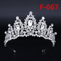 Bridal Big Crown Headpieces Strass Cake Crown Copricapo Principessa Copricapo Accessori nuziali da sposa Prom Dresses For Wedding Party