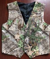 Camo Impresso Coletes do Noivo Caçador Coletes de Casamento Camuflagem Coletes Mens 2 Partes Set (Vest + Gravata) Ajustável imagem wisistreal