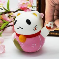 Kawaii Soft Fortune Lucky Cat Kat Animal Squishy Toy Slow Ri...