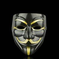 Máscaras de fiesta de venta caliente V para VENDETTA Mascarilla Anonymous Guy Fawkes Disfraz Adulto Disfraz Accesorio Accesorio Partido Cosplay Máscaras