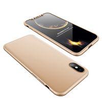 Pour iPhone Xs Max Xs 3 en 1 Armor Case 360 Couverture de protection complète pour iPhone 6 7 8 Plus