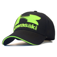 Motorcycle racing cap knight locomotive baseball cap Kawasak...