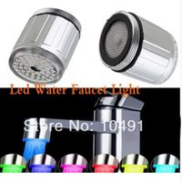 LED Water Faucet Light 7 Colorful Changing Glow Shower Strea...