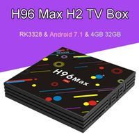 H96 MAX H2 Android 7. 1 TV Box Quad Core RK3328 4GB 32GB 2. 4G...