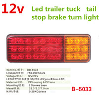 truck trailer 1pair red amber 12V 24 LED ATV Truck Trailer l...