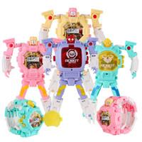 Deformasyon Toksik Olmayan Çocuk Kol Oyuncak Çocuk Spor Karikatür Saatler Çocuklar Noel Hediyeler Sevimli Robot Dönüşüm Oyuncaklar