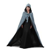 Свадебная куртка обертки теплые бархатные серые без рукавов капюшон капюшон хэллоуин костюмы для женщин мужчины косплей свадебный плащ S-6XL