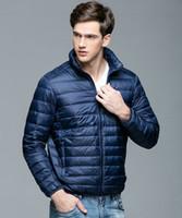 2018 осень зима мужская пуховик теплая куртка пальто мужская легкий стенд воротник упаковку пуховик S1015