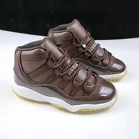 الجملة ذات جودة عالية 11 الحادي عشر جامعة وايت بلو أحذية كرة السلة للأطفال المدربين الرياضة أحذية رياضية الحجم 7-13