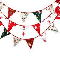 الحلوى عيد الميلاد الرايات 2018 3.6 متر عطلة عيد الميلاد حزب ديكورات ديكور النسيج الزفاف راية راية