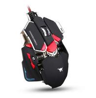 Combaterwing الألعاب ماوس 4800 ديسيبل متوحد الخواص بصري usb السلكية برمجة 10 أزرار rgb التنفس الصمام الفئران للاعب
